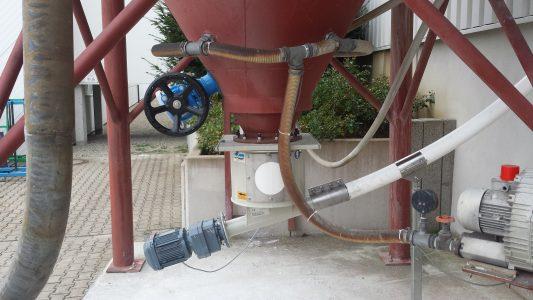 Anlage zum Anrühren von Kalkmilch aus Kalkhydrat