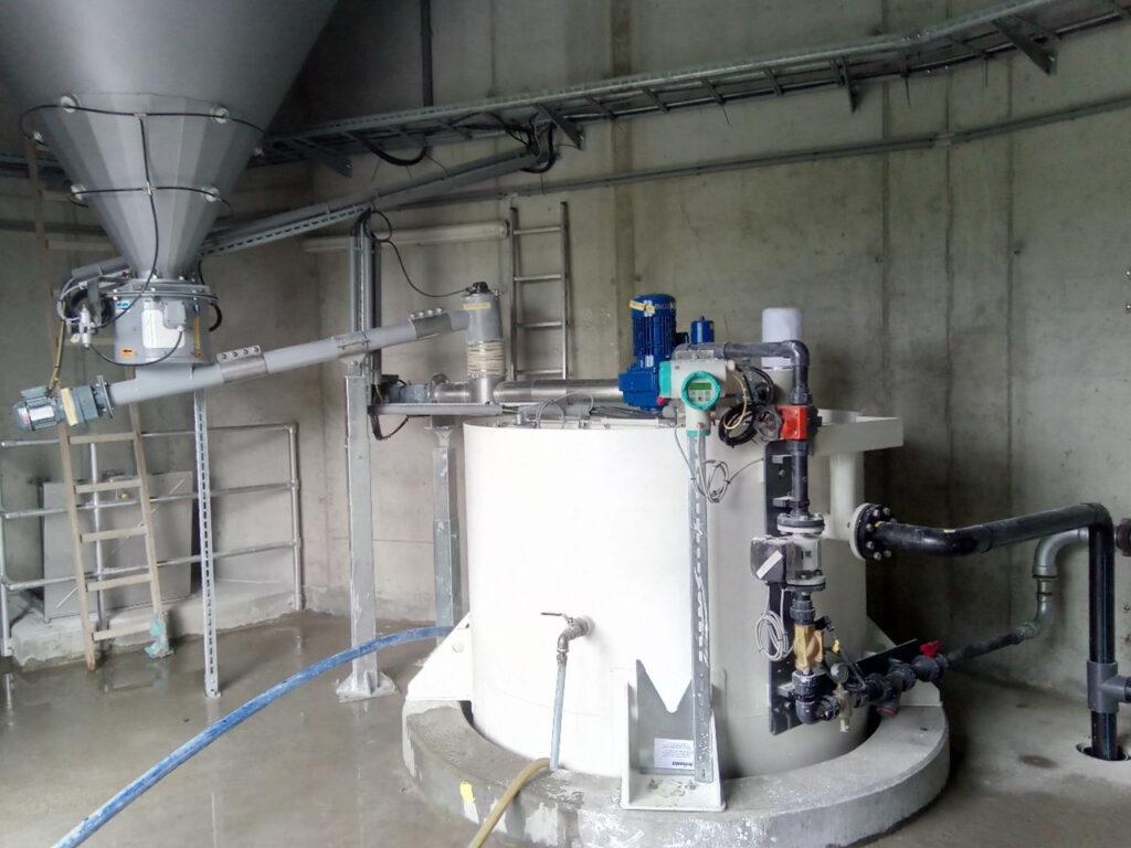 Silo-Austrags- und Dosiergerät ZDM 400 & Kalkmilch Ansetzstation