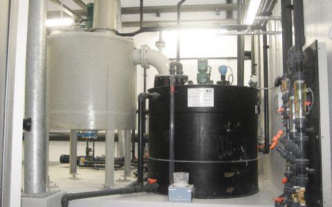 Kalklöschanlage, Löschbehälter, Verdünnungsbehälter, Wasserdosiertafel, Brüdenwäscher