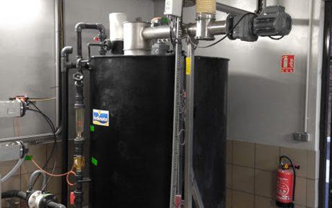 Ansetzbehälter für Kalkmilch,Wasserdosiertafel, Kalkinjektor