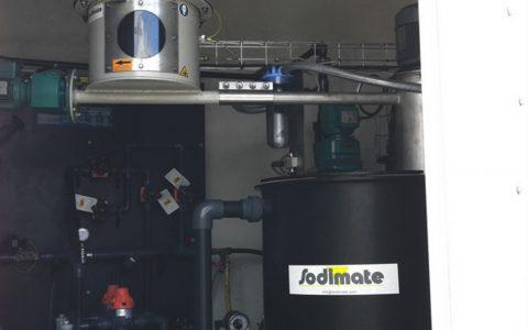 Silo Austrags- und Dosiergerät DDS 400, Pulveraktivkohle Dispergierer Sodimix, Pumpenstation