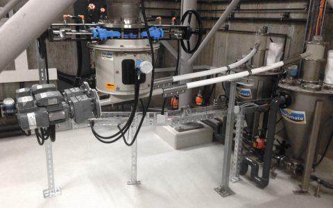 Silo Austrags- und Dosiergerät DDS 400 mit 2 Dosierern, Feststoff Wasserstrahlpumpe für Pulveraktivkohle
