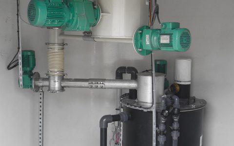 Silo Austrags- und Dosiergerät DDS 400 sowie Pulveraktivkohle Dispergierer Sodimix