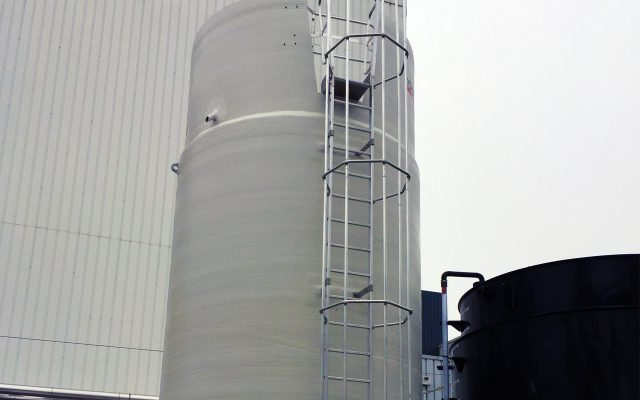 Lagerung und Förderung von gebrauchsfertiger, konzentrierter Kalkmilch