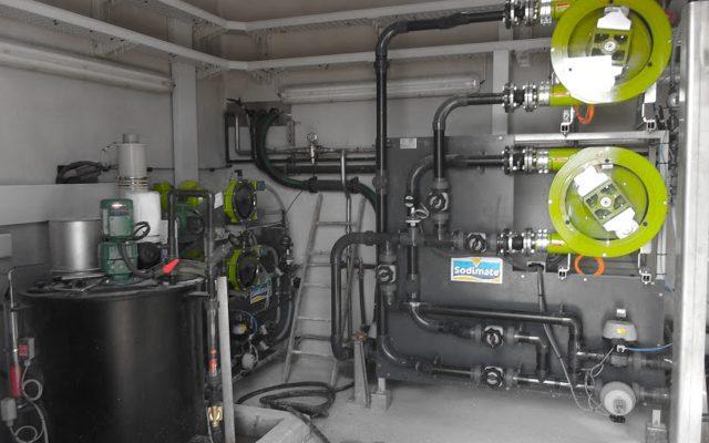Pumpenstation für Pulveraktivkohle-Slurry mit 2 Schlauchpumpen