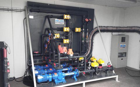Pumpenstation für Kalkmilch mit 3 Exzenterschneckenpumpen