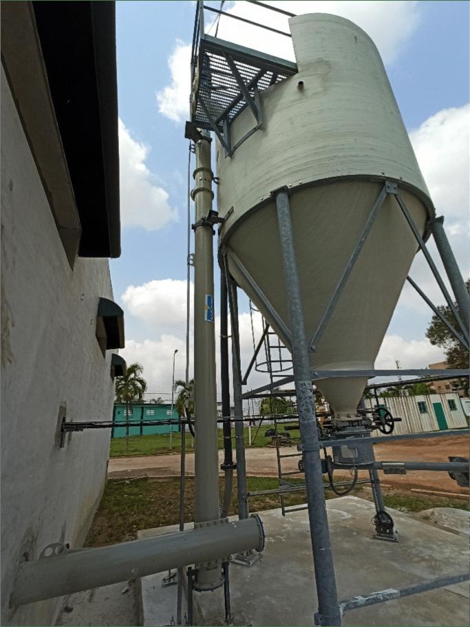 Kalksilo mit Sodimate Austragssystem für Branntkalk